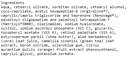 ATAL Advantage Hyaluonic Acid Ingredients