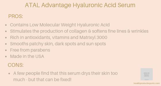 ATAL Advantage Ultimate Age Defying Hyaluronic Acid Serum