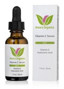 Amara Organics vitamin C face serum