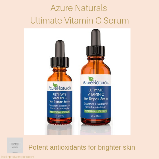 Azure Naturals vitamin C face serum