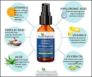 Azure Naturals Vitamin C Serum for face
