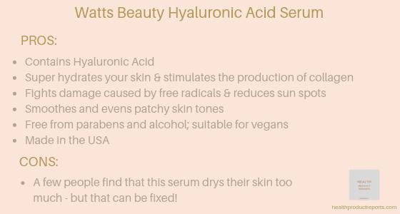 Watts Beauty Moisturizing Hyaluronic Acid