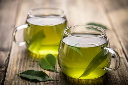 Green tea ingredient in hyaluronic acid serum - skincare products