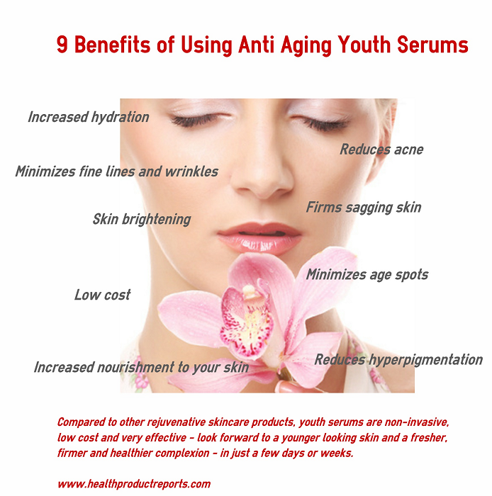 9 benefits of anti-aging youth serums