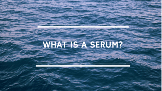 What is a serum - hyaluronic acid serum