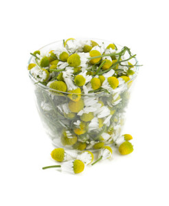 chamomile flowers in vitamin c serum