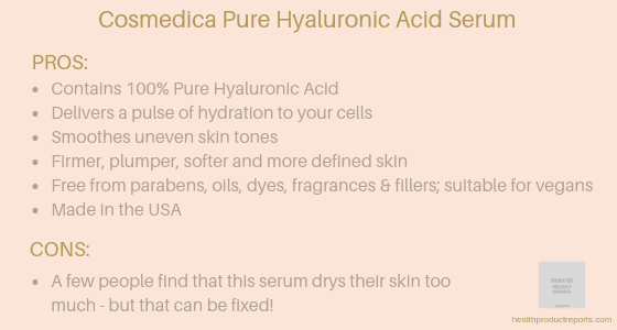 Cosmedica pure hyaluronic acid serum