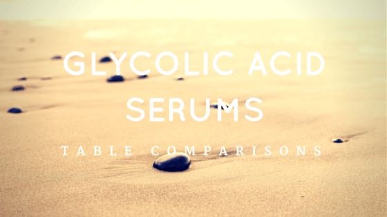 Glycolic Acid Serum Reviews - Table Comparisons