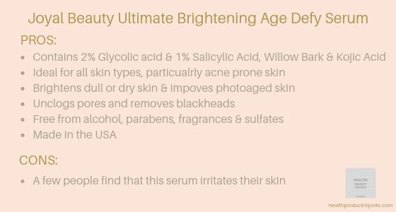 Joyal Beauty Ultimate Brightening Age Defy Serum