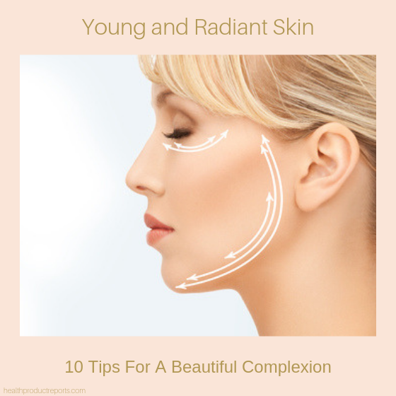 young and radiant skin - skincare products
