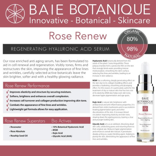 Baie Botanique Rose Renew Hyaluronic Acid Serum