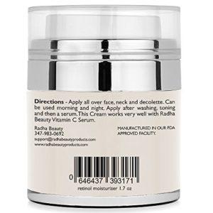 Retinol Moisturizer Cream directions