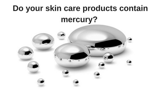Does your skin care products contain mercury?