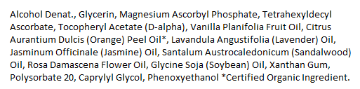 Vitamin C Serum Ingredients