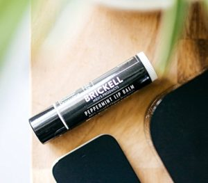 Brickell Men's No Shine Lip Balm for Men