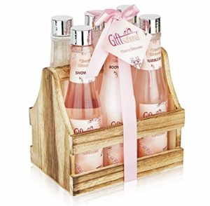 Spa Gift Basket with Heavenly Cherry Blossom Fragrance