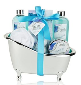 Spa Gift Basket with Refreshing Ocean Bliss Fragrance