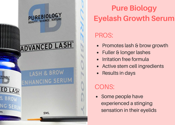 Pure Biology Eyelash Growth Serum